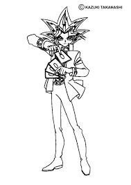Yu Gi Oh Coloring Page More Manga Sheets On Hellokids