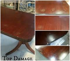 Duncan Phyfe Dining Table Repair Refinish For The McBrayer Family