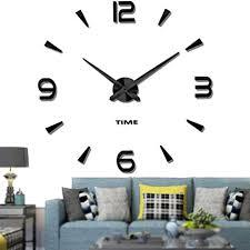 vangold moderne mute diy große wanduhr 3d aufkleber home office decor geschenk schwarz 73