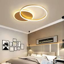 moderne leuchte led ring design in gold für esszimmer