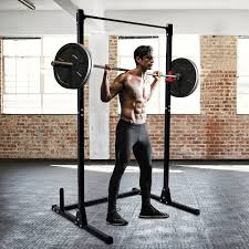 Akonza Olympic Power Rack Cage Squat Pull Up Dip Station W Lat