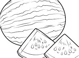 Food Coloring Pages To Print Printable Picture Wonderful Watermelon Page Fruits