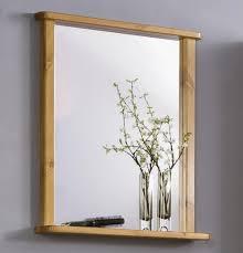 badezimmer spiegel 67x78x12cm kiefer massiv honig lackiert casade mobila