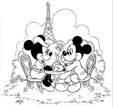 Mickey Minnie Mouse Coloring Pages In Paris