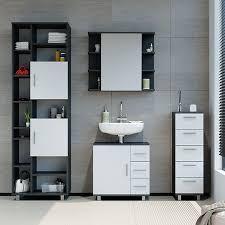 badmöbel set ilias bad spiegel unterschrank badschrank hochschrank spiegelschrank weiß anthrazit