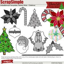 ScrapSimple Embellishment Templates Stained Glass Christmas