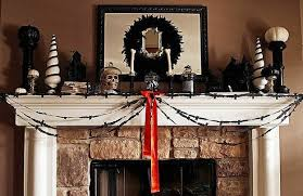 Halloween Fireplace Mantel Scarf by The Domestic Curator 110 Awesome Halloween Decorating Ideas For