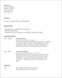 Childcare Resume Examples Sample Child Care Day Worker Resumes Objective