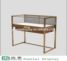 Modern High Quality Glass Stainless Steel Stand Jewelry Display Case For Retail Store