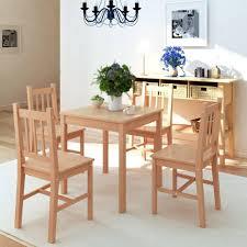 esstisch mit 4 stühlen esszimmer fünfteiliges esstisch set pinienholz