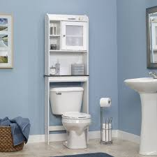 sauder caraway space saver bathroom cabinet soft white walmart com