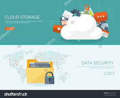 100 Flat Cloud Vector Illustration Computing Background Data