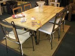 ensemble table et chaises fer forgé chêne honfleur buy in