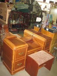 Waterfall Vanity Dresser Set by Gorgeous Vintage Art Deco Waterfall Vanity Dresser With Storage