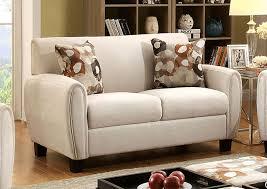Peaceful Living Furniture Liana Beige Loveseat w Pillows