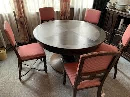 esszimmer tisch rund ausziehbar antik 19 jh