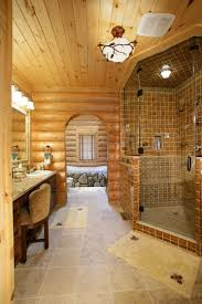 I Love Many Things About This Log Home Bathroom- The River Stones ... Bathroom Ideas Home Depot 61 Astonishing Figure Of Log Vanities Best Of Rustic With Calm Nuance Traba Homes Cabin Small Decorating Hgtv Office Arrangement Remodel Bedroom Theintercourse Awesome Log Cabin Bathroom Ideas Hd9j21 Tjihome Master Rustic Modern Cabins Luxury Progress Upstairs Cedar Potting Bench Upnorth Design Farmhouse Decor Luxury Nice Looking Sign Uncategorized Floor Plans Good Loft