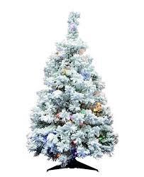 Vickerman 36 Flocked Alaskan Pine Artificial Christmas Tree With