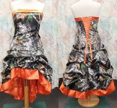 discount gothic knee length orange camo wedding dresses 2015 new