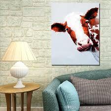 großhandel moderne wohnkultur ölgemälde auf leinwand kuh kopf leinwand bilder wohnzimmer wand dekor günstige ölgemälde dafenoilpaintingyeah 10 88