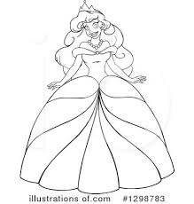 Royalty Free RF Princess Clipart Illustration by Liron Peer