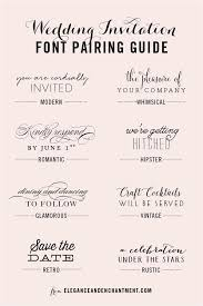 Wedding Invitation Font Pairing Guide Modern Quickpen And ITC Avant Garde Gothic Whimsical