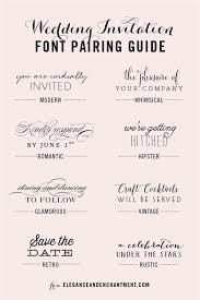 Wedding Invitation Font Pairing Guide Modern