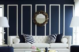 wohnzimmer dunkelblaue wand marine tapete für wände
