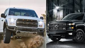 Who Sells The Most Pickup Trucks In America? Get Ready To Rumble ... 2016 Chevy Silverado 53l Vs Gmc Sierra 62l Chevytv Comparison Test 2011 Ford F150 Road Reality Dodge Ram 1500 Review Consumer Reports F350 Truck Challenge Mega 2014 Chevrolet High Country And Denali Ecodiesel Pa Ray Price 2018 All Terrain Hd Animated Concept Youtube Gmc Canyon Vs Slt Trim Packages Mcgrath Buick Cadillac