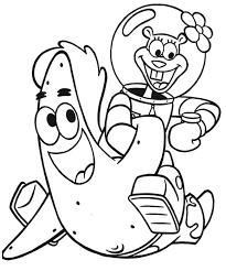 Patrick And Sandy Having Fun Coloring Page