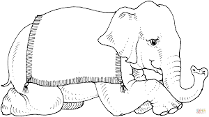 Click The Circus Elephant Coloring Pages