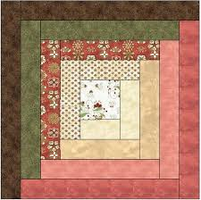Traditional Log Cabin Quilt Block Pattern Download – The Feverish