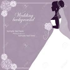 Beautiful bride on a purple background Stock Vector