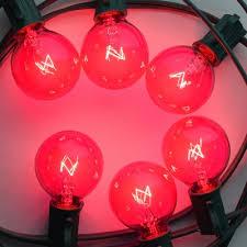 replacement pink 7 watt incandescent g40 globe light bulbs e12