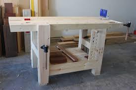 split top hybrid roubo workbench u2013 the fameless woodworker