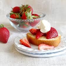 Coriander Spiced Pound Cake with Strawberries