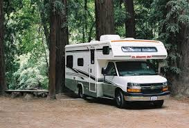 RV Parked In The Woods