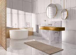 badezimmer konzept gold mit marmor