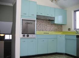 Kitchen Aqua Blue Cabinet Ideas With Mosaic Tiles Backsplash