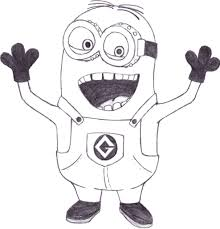 Minions Coloring Pages Funny