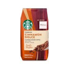 Starbucks Cinnamon Dolce Flavored Blonde Light Roast Ground Coffee