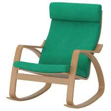 Rocking-chair POÄNG Oak Veneer, Lysed Bright Green