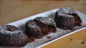 fondant au chocolat schokoladenkuchen mit flüssigem kern