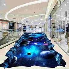 3d Galaxy Epoxy Floor For Show Room