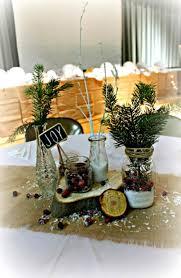Bridgey Widgey December 2013 Rustic Christmas Table Decorations Center Pieces 2