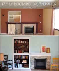Living Room With Fireplace And Bookshelves by Family Room Update Fireplace Bookshelf And Window Improvements