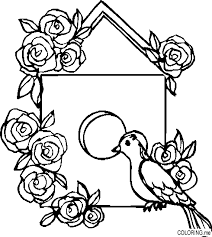 Coloring Page Bird House