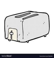 Comic Cartoon Toaster Vector Image