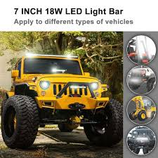 7inch 18W LED Light Bar Spot Beam Work Light Driving Fog Light Road ... 19992006 Gm Truck And Suv How To Install An Led Light Bar On The Roof Of My Truck Better Offroad Light Bars For Trucks Atvs More Rebelled Lights 12 Inch 162w Led Bar Car 4x4 Suv Atv 4wd Trailer Are Caps Partners With Rigid To Shine Bright 02017 Dodge Ram 23500 40inch Curved Bumper Galore Need Mounting Options Rc Truck 130mm 5 Inch 110 Scale Crawler Scx10 Mounted Under Front Bumper Ford F150 Forum 40 200w Spotflood Combo 15800 Lumens Cree 50inch Philips Flood Spot Driving Lamp 4wd 6 Mini 18w 12v 24v Cars Trucks