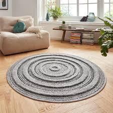 vintage handira teppich nador anthrazit grau rund 160 cm teppich